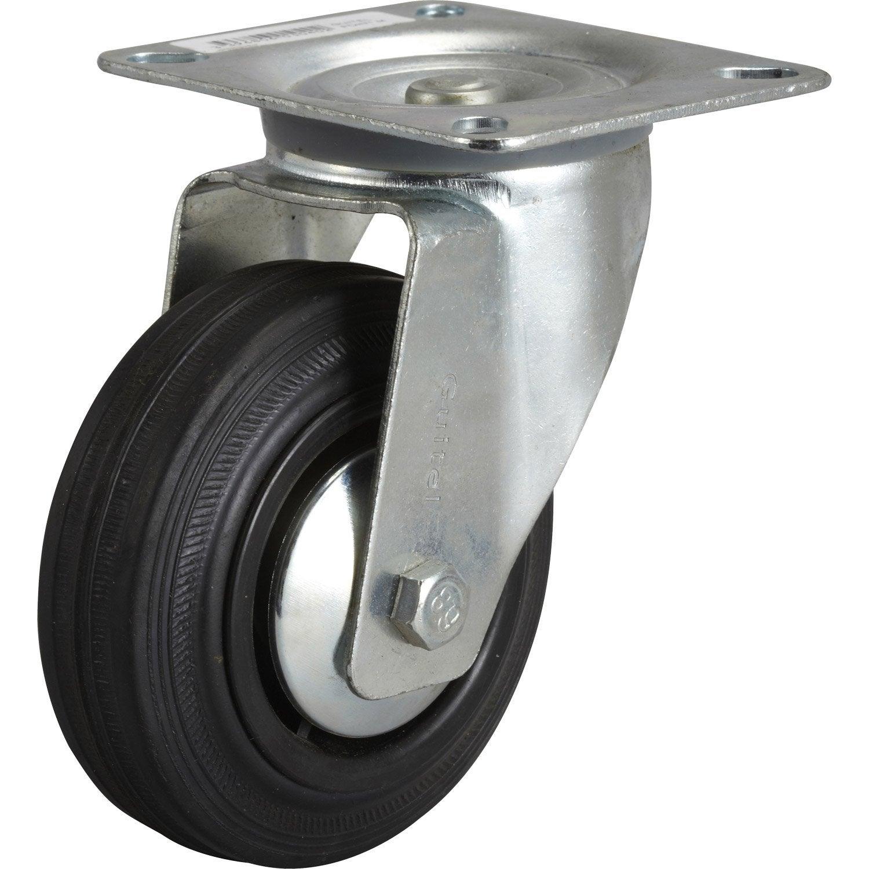 Roulette pivotante platine mm leroy merlin - Roulettes industrielles pour meubles ...