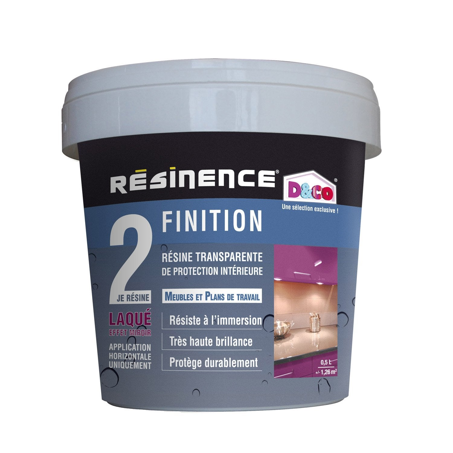 R sine de finition protecteur resinence incolore 0 5 l for Peinture carrelage resinence