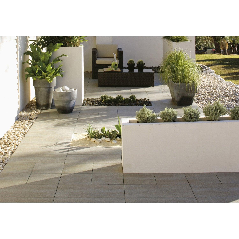 Carrelage Design carrelage gres cerame pleine masse pour garage : Carrelage sable effet bu00e9ton Source l.30 x L.60 cm : Leroy ...