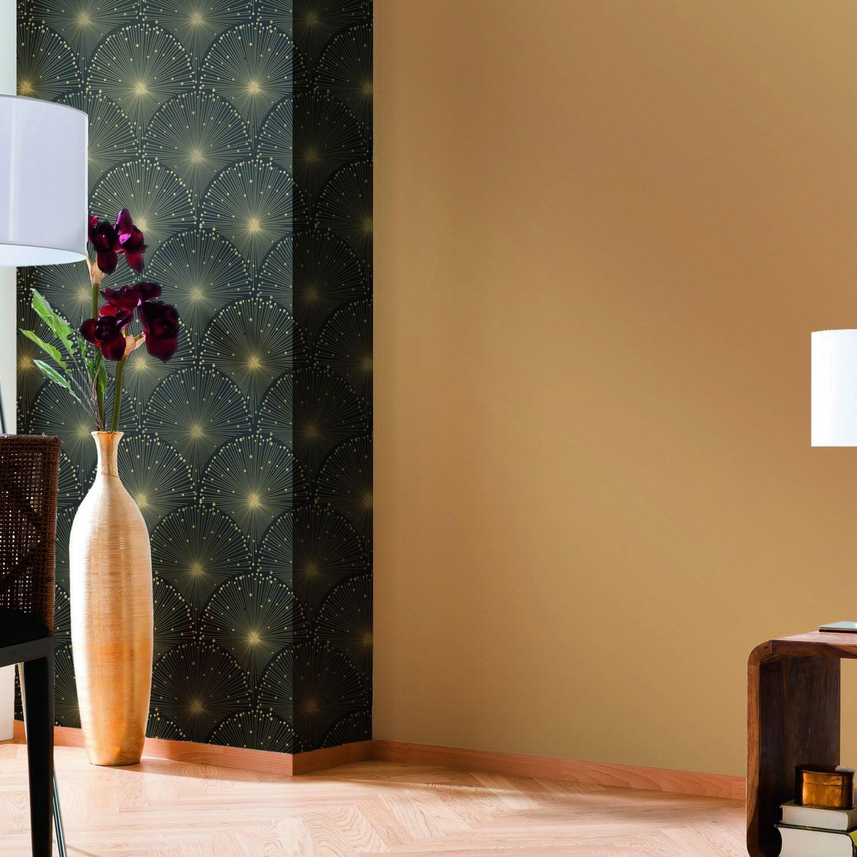 papier peint intiss eventail noir leroy merlin. Black Bedroom Furniture Sets. Home Design Ideas
