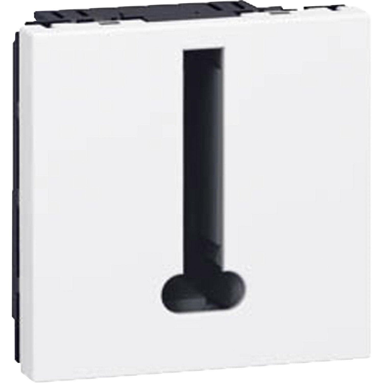 prise t l phone mosaic legrand blanc leroy merlin. Black Bedroom Furniture Sets. Home Design Ideas