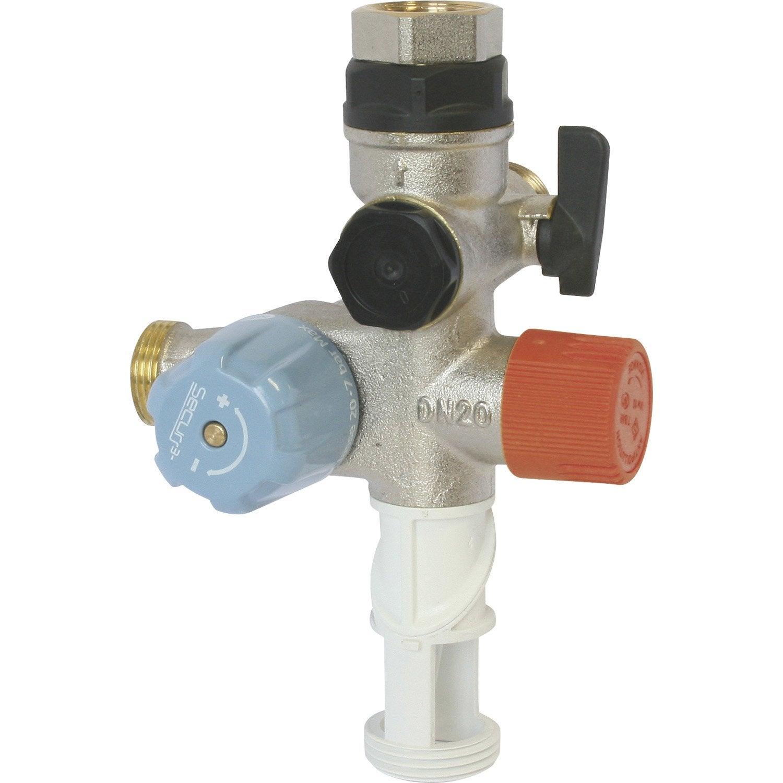 Groupe de s curit inox pour eau agressive equation leroy merlin - Groupe securite chauffe eau fuit ...