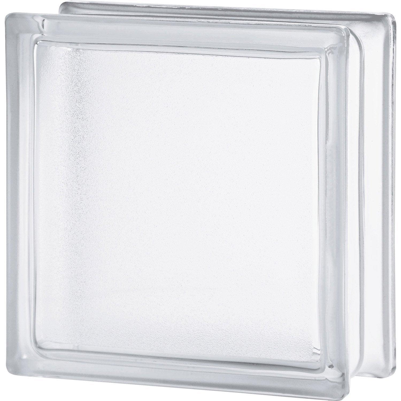 Brique de verre transparent lisse double face leroy merlin - Toile de verre lisse leroy merlin ...
