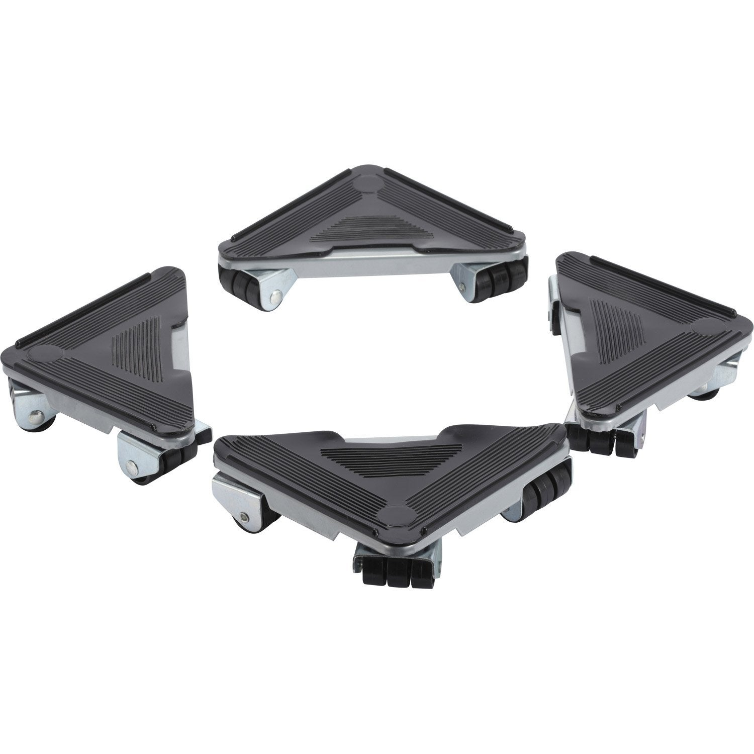 Lot de 4 supports roulants de manutention acier charge - Comment deplacer une armoire lourde facilement ...