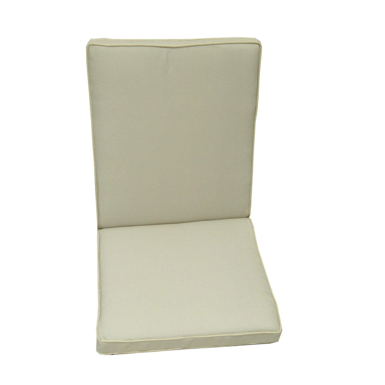 Coussin d 39 assise dossier de chaise ou fauteuil naterial - Coussins pour balancelle assise et dossier ...