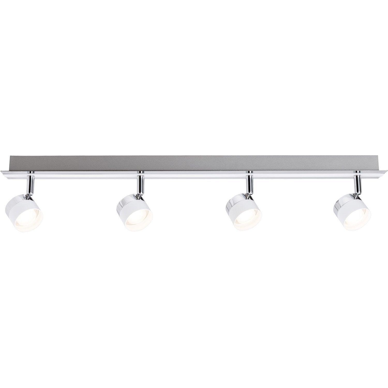 rampe 4 spots led 4x3w blanc stage paulmann leroy merlin. Black Bedroom Furniture Sets. Home Design Ideas