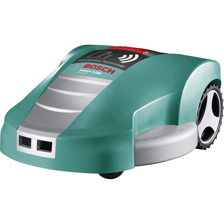 tondeuse robot sur batterie bosch indego 1200 connect leroy merlin. Black Bedroom Furniture Sets. Home Design Ideas