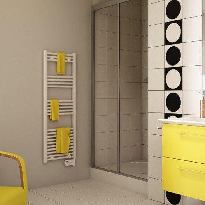 s che serviettes lectrique inertie fluide etroit 500 w leroy merlin. Black Bedroom Furniture Sets. Home Design Ideas