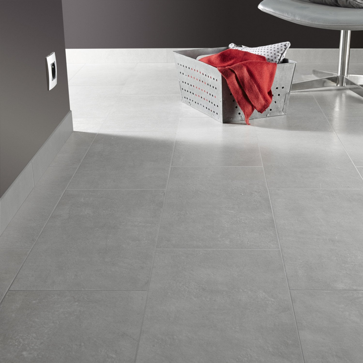 Carrelage leroy merlin gris maison design for Carrelage gris leroy merlin