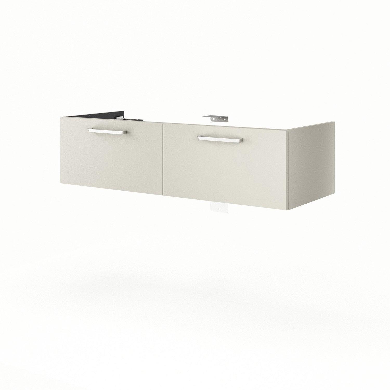Meuble sous vasque x x cm beige neo line - Leroy merlin meuble sous vasque ...