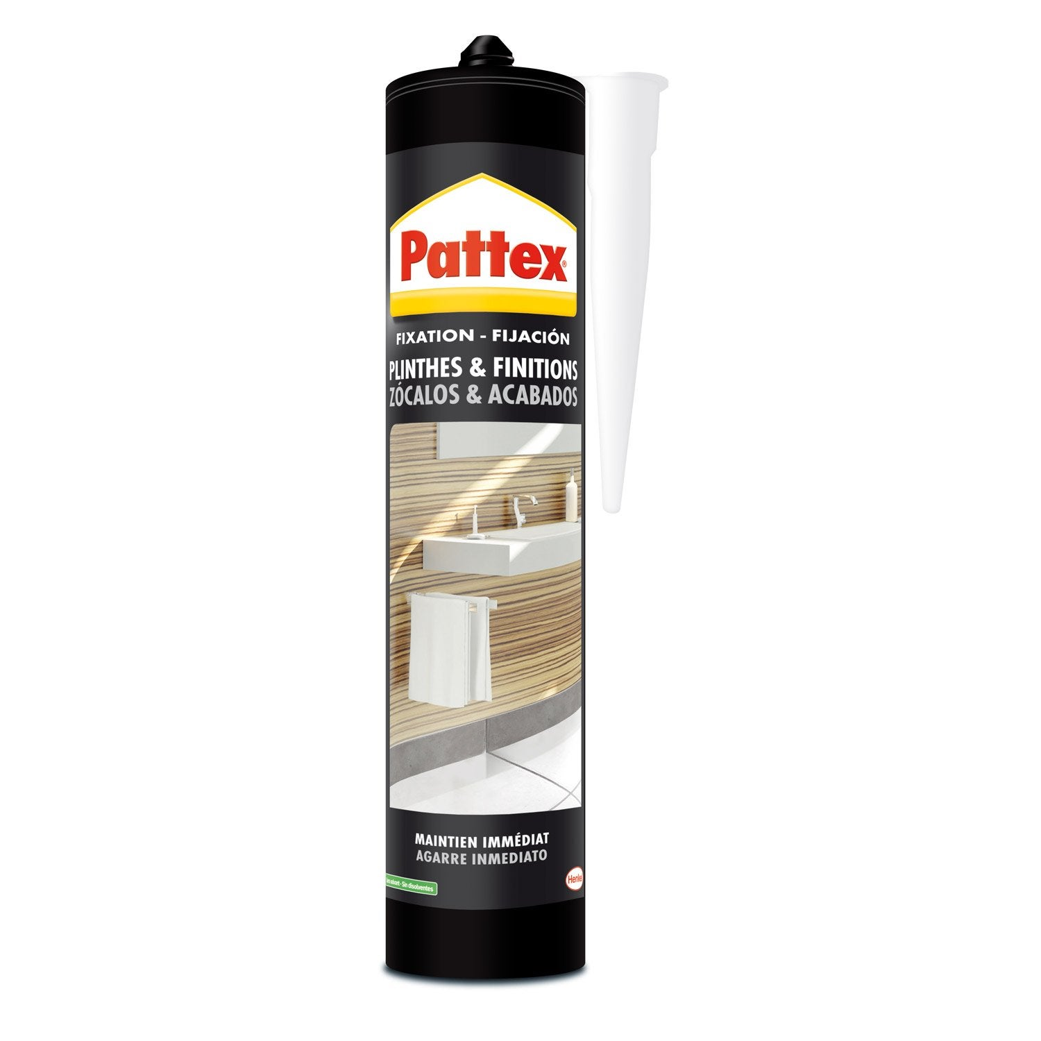 Colle mastic plinthes carrelages pattex 450 g leroy merlin for Colle pour carrelage sur carrelage