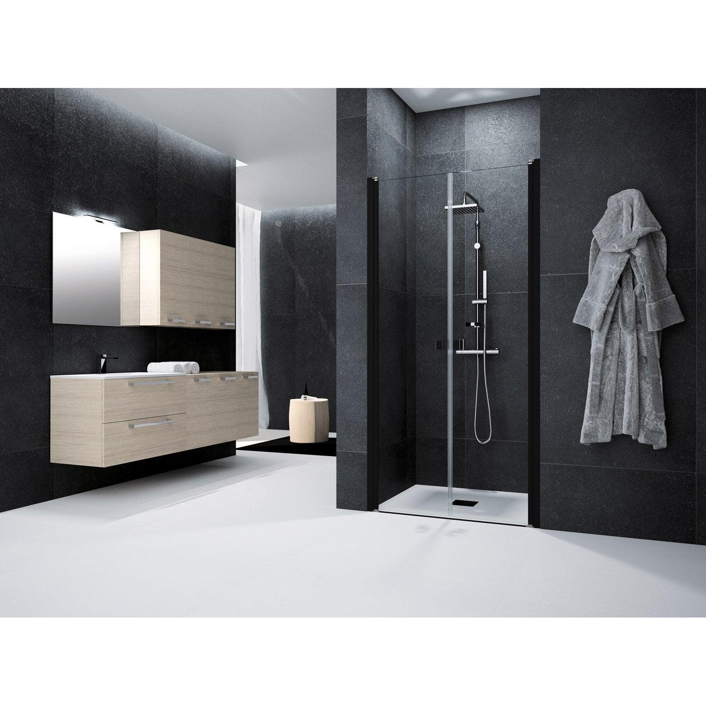 Porte de douche battante 90 cm transparent neo leroy merlin - Porte douche neo ...