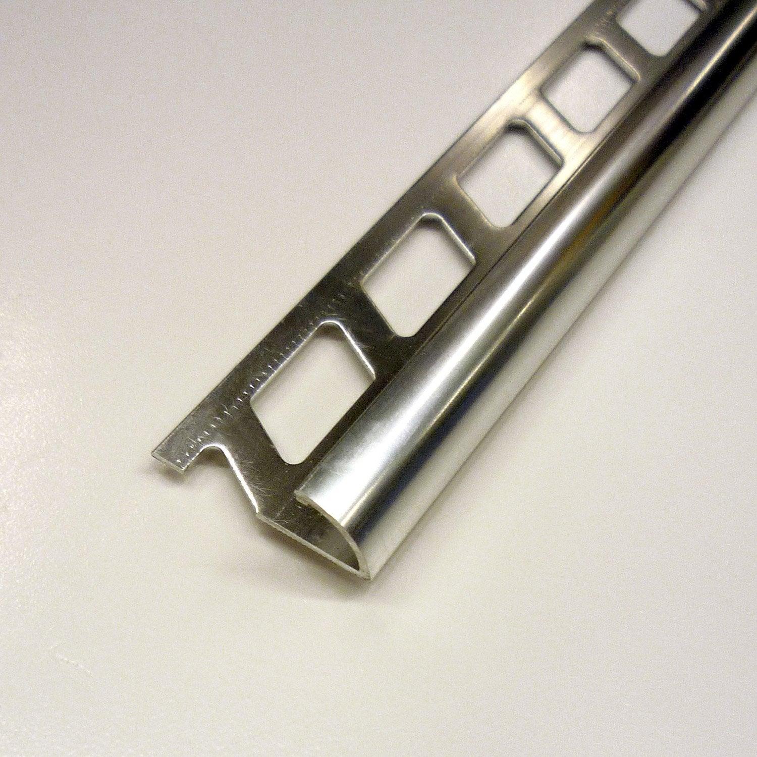 Quart de rond carrelage mur aluminium anodis l 2 5 m x for Baguette d angle carrelage
