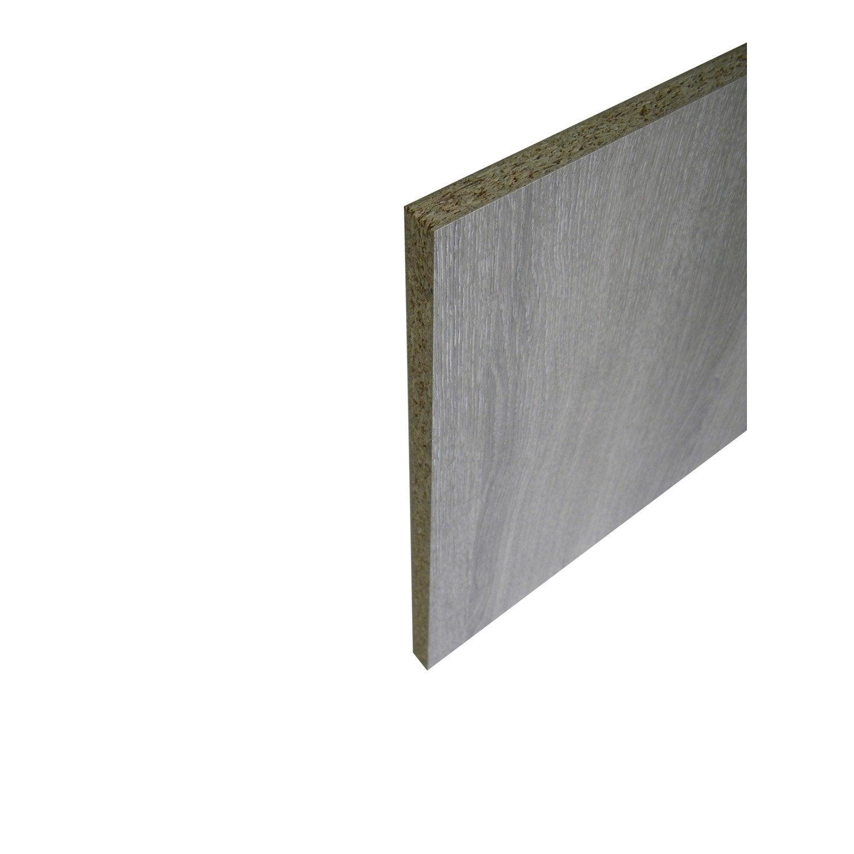 Panneau aero agglom r int rieur ch ne gris 250 x 123cm x p 18 mm leroy - Panneau sandwich toiture leroy merlin ...