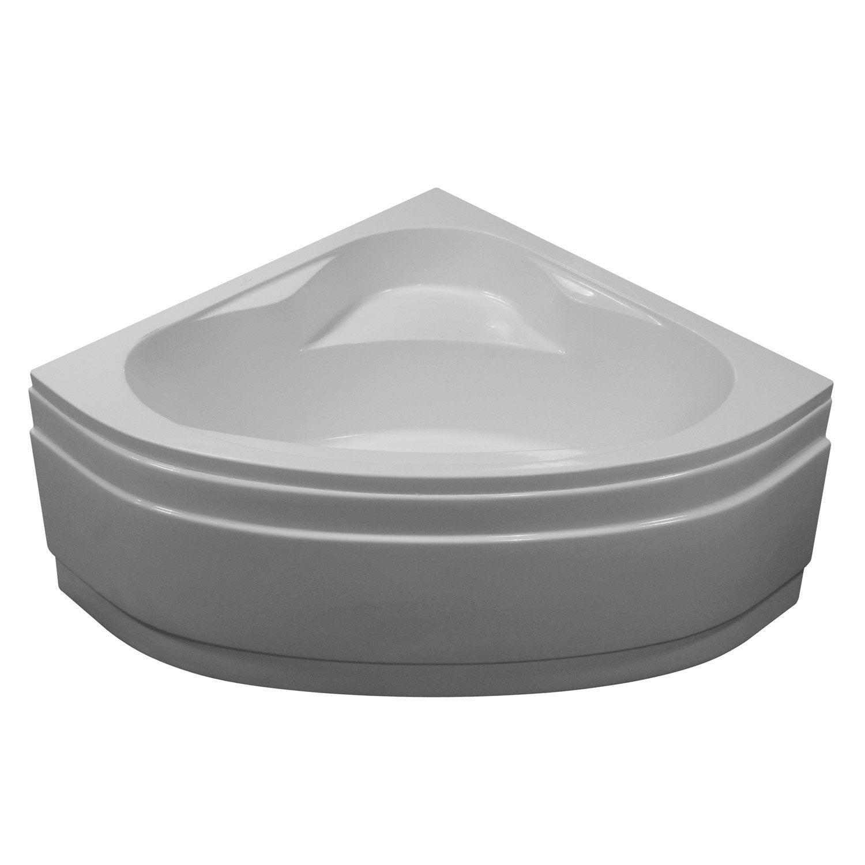 Baignoire d 39 angle cm blanc sensea access for Baignoires a porte leroy merlin