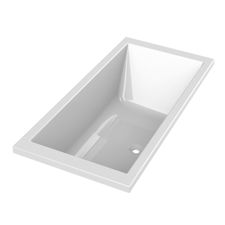 Baignoire rectangulaire duo premium design sensea - Baignoire design leroy merlin ...