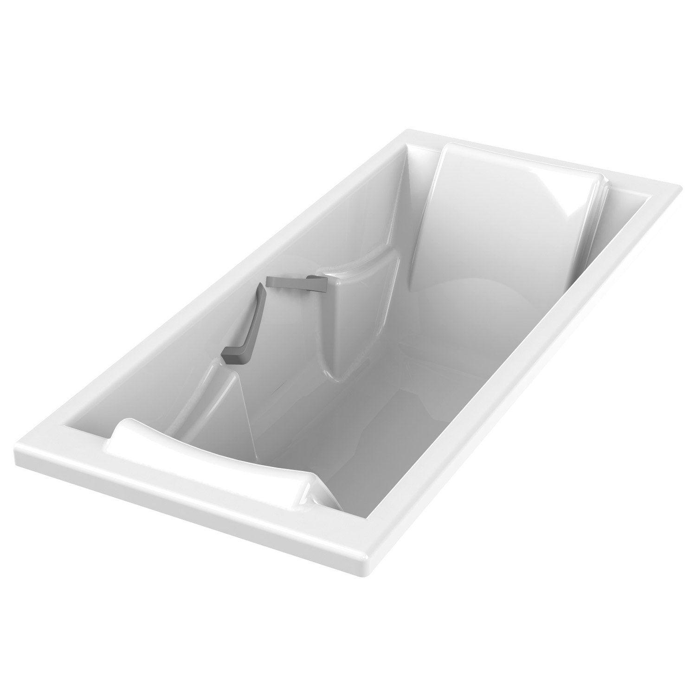 Baignoire rectangulaire duo premium confort sensea acrylique 180x80 cm le - Baignoire acrylique leroy merlin ...