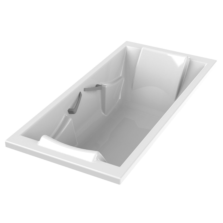 Baignoire rectangulaire duo premium confort sensea for Baignoire acrylique