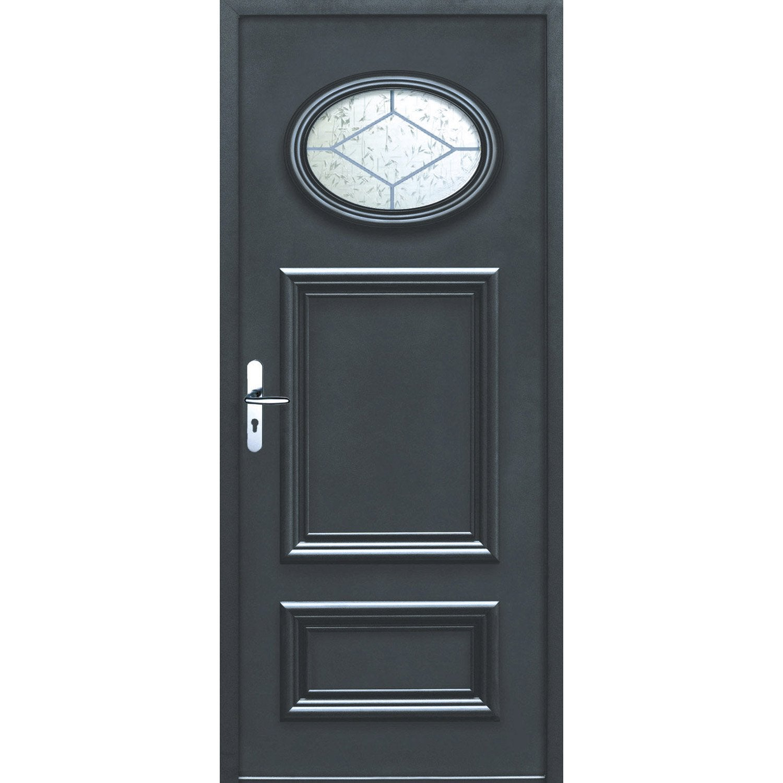 Porte d 39 entr e sur mesure en aluminium lyon excellence leroy merlin - Ferme porte leroy merlin ...