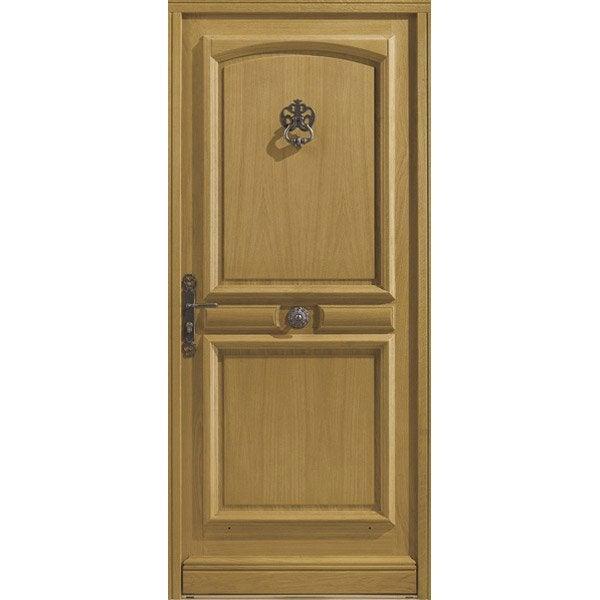 Porte d 39 entr e sur mesure en bois borgo excellence leroy - Credence leroy merlin sur mesure ...