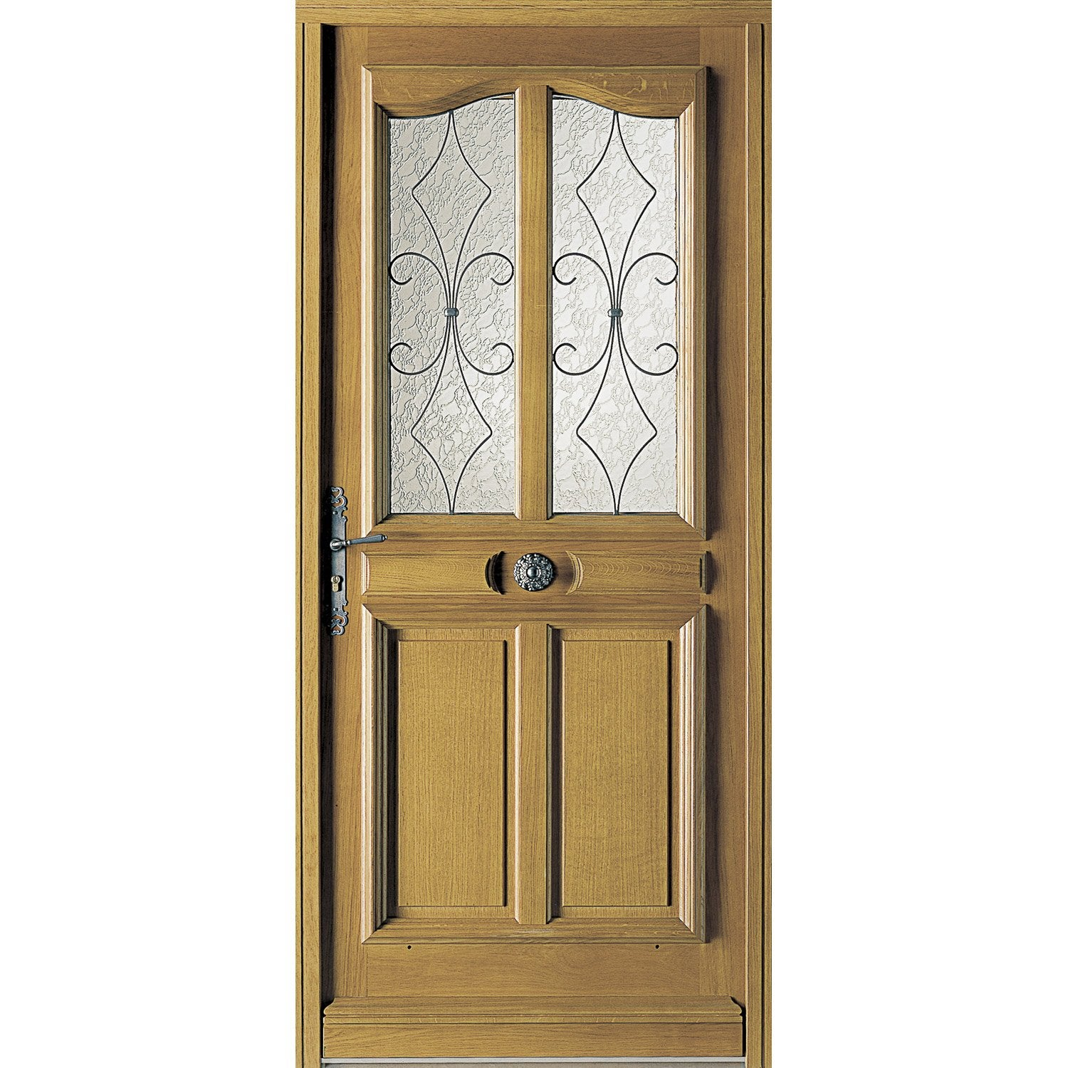 Porte d 39 entr e sur mesure en bois courchevel excellence for Carrelage porte d entree