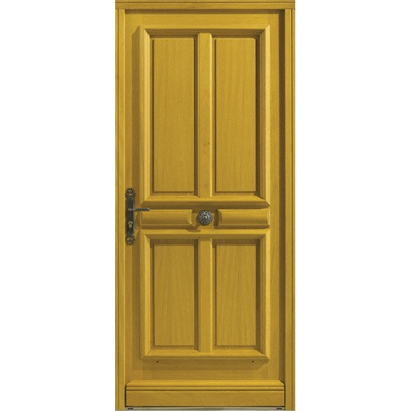 Porte d 39 entr e sur mesure en bois challans excellence for Rideau phonique porte d entree