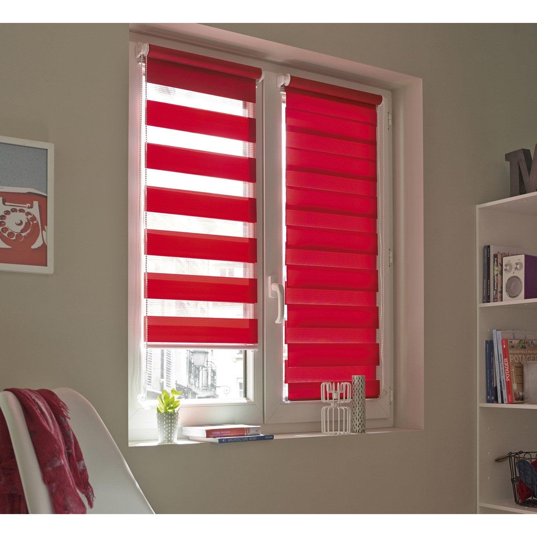 Connu Store enrouleur jour / nuit INSPIRE, rouge rouge n°3, 66 x 160 cm  JO66