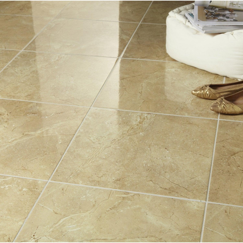 Carrelage sol et mur ocre effet marbre carpatia x l for Carrelage marbre