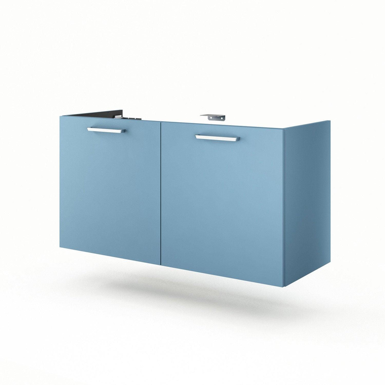 Meuble sous vasque x x cm bleu neo line - Meuble sous vasque leroy merlin ...