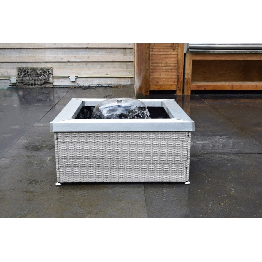 terrasse carré en polyrésine en plastique beige Amora  Leroy Merlin