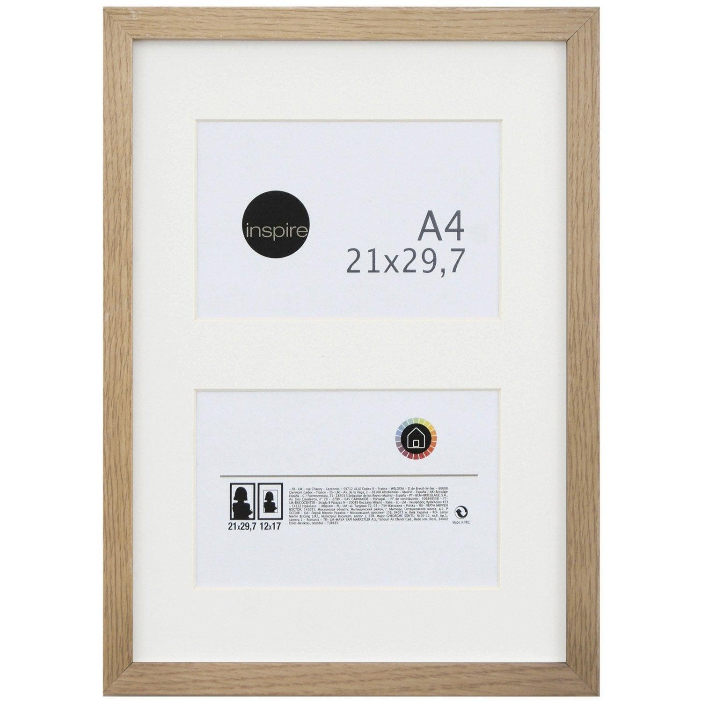 cadre lario 21 x 29 7 cm ch ne clair leroy merlin. Black Bedroom Furniture Sets. Home Design Ideas