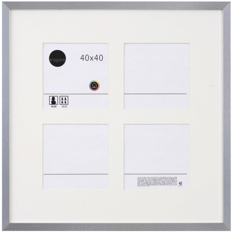cadre lario 40 x 40 cm argent leroy merlin. Black Bedroom Furniture Sets. Home Design Ideas