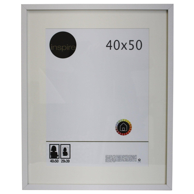 cadre lario 40 x 50 cm blanc blanc n 176 0 leroy merlin