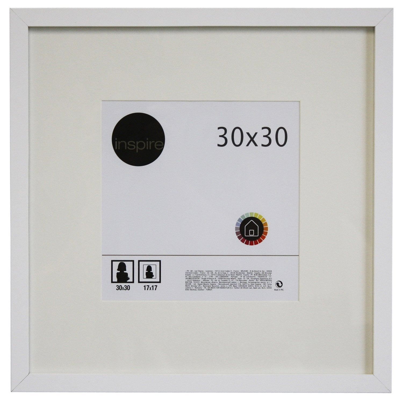 cadre lario 30 x 30 cm blanc blanc n 0 leroy merlin. Black Bedroom Furniture Sets. Home Design Ideas