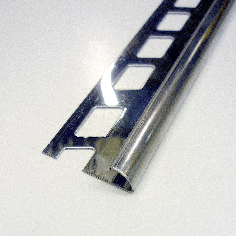 Quart de rond carrelage sol inox l 2 5 m x mm for Barre de seuil pour carrelage