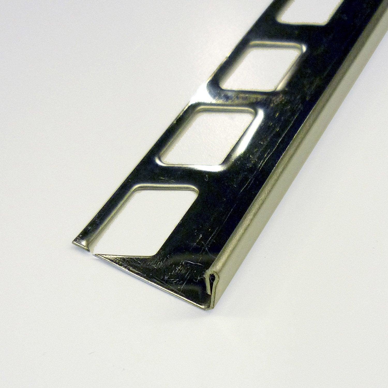 Equerre de finition carrelage sol inox l 2 5 m x mm - Carrelage inox leroy merlin ...