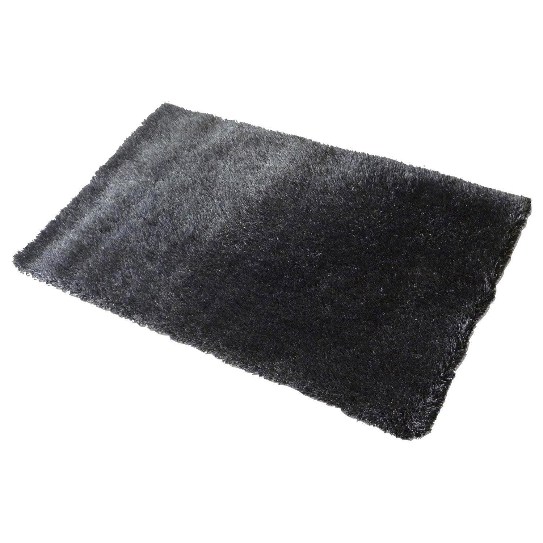 tapis noir shaggy love x cm leroy merlin. Black Bedroom Furniture Sets. Home Design Ideas
