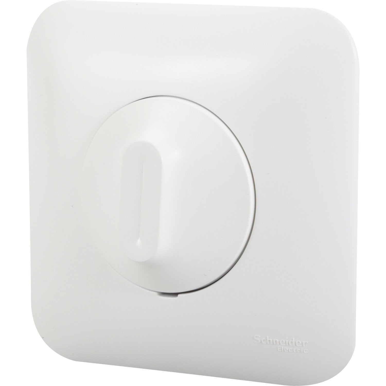 variateur ovalis schneider electric blanc leroy merlin. Black Bedroom Furniture Sets. Home Design Ideas