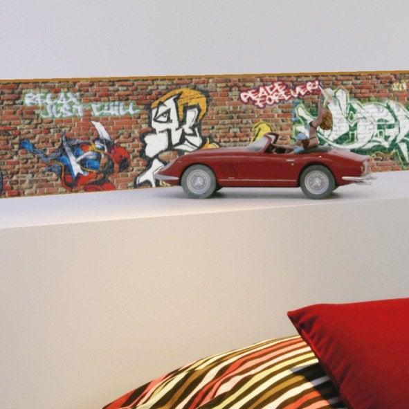 Frise vinyle adh sive graffiti longueur 5 m leroy merlin - Graffiti leroy merlin behang ...