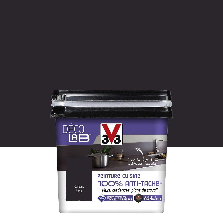 Peinture d colab 100 antitache v33 noir carbone l - Peinture bois noir mat ...