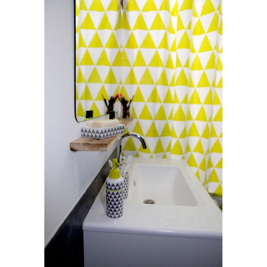 Rideau de douche en plastique arlequin sensea jaune 180 - Rideau de douche leroy merlin ...