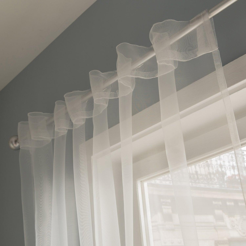 Voilage transparent atria blanc x cm leroy merlin - Leroy merlin voilages ...
