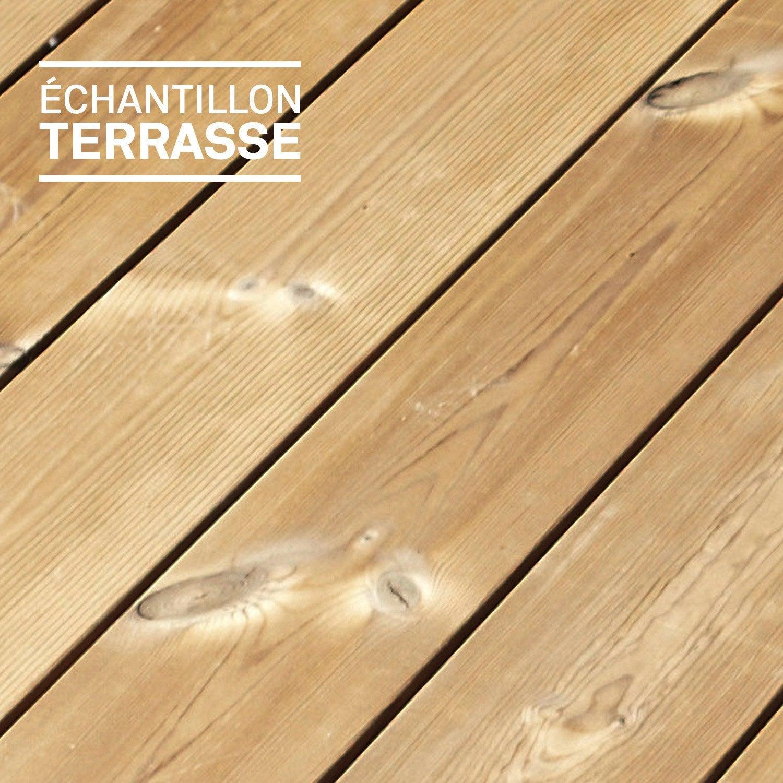Echantillon de terrasse Helsino en bois pin naturel  Leroy Merlin