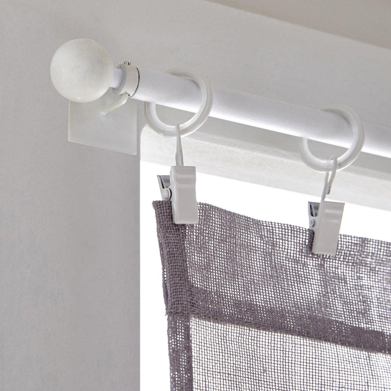 Anneaux barre de vitrage 10 mm m tal blanc inspire leroy - Barre metal leroy merlin ...