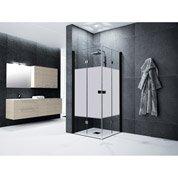 Porte de douche, angle carré, L.89 cm x l.89 cm, sérigraphié, Neo