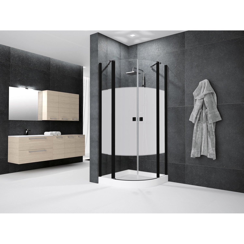 porte de douche battante angle 1 4 de cercle 90 x 90 cm s rigraphi neo leroy merlin. Black Bedroom Furniture Sets. Home Design Ideas