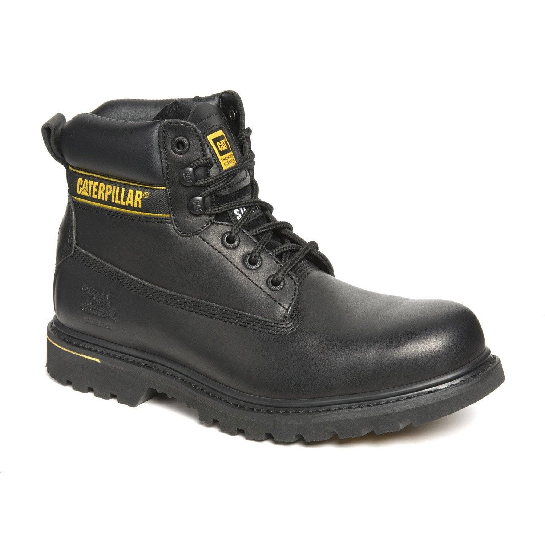 Chaussures de s curit hautes caterpillar holton s3 bk - Chaussure de securite castorama ...