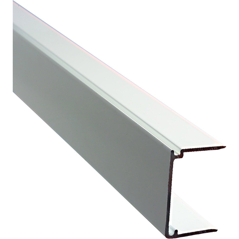 profil obturateur aluminium dhaze blanc laqu 1 m leroy merlin. Black Bedroom Furniture Sets. Home Design Ideas