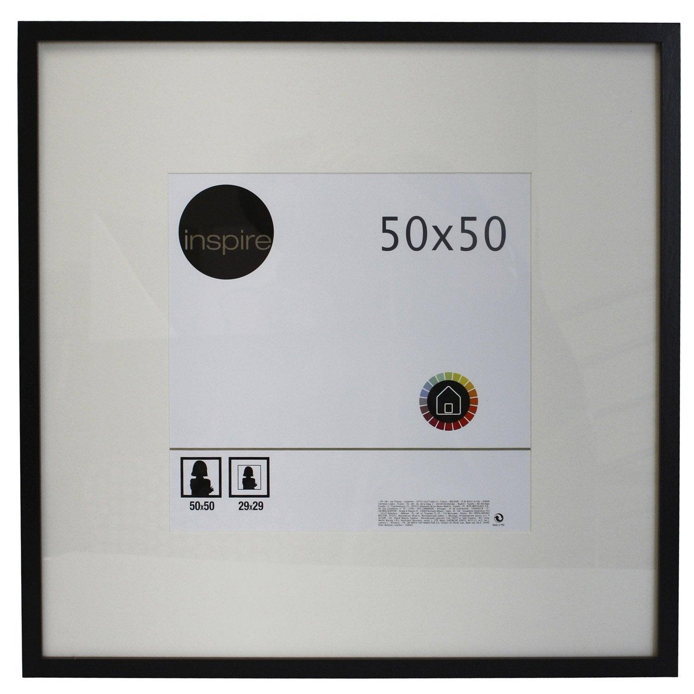 cadre inspire lario 50 x 50 cm noir noir n 0 leroy merlin. Black Bedroom Furniture Sets. Home Design Ideas