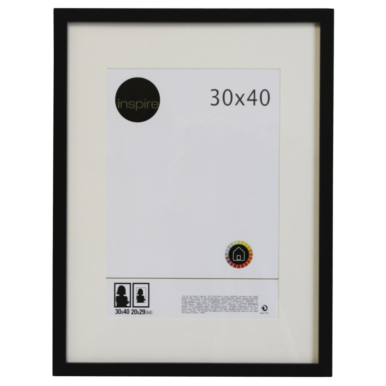 cadre lario 30 x 40 cm noir noir n 176 0 leroy merlin